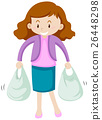 Woman with two shopping bags 26448298