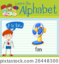 Flashcard letter F is for fan 26448300