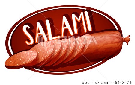 Label design with salami 26448371