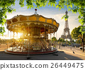 Carousel and  Eiffel tower 26449475