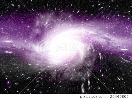 Stars, dust and gas nebula in a far galaxy 26449803
