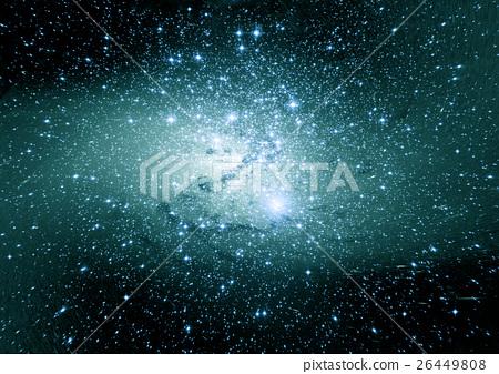 Stars, dust and gas nebula in a far galaxy 26449808