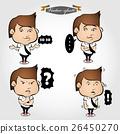 business man cartoon character emotion set 26450270