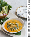 spicy crab curry soup thai style 26450318