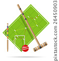 playground for croquet vector illustration 26450903
