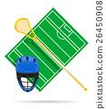 lacrosse field vector illustration 26450908