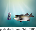 swiss franc paper on fish hook 26452985