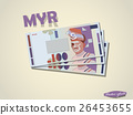 graphic design Malaysian ringgit money paper 26453655