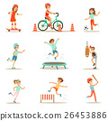 Kids Practicing Different Sports And Physical 26453886