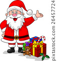 Cartoon Santa presenting gift 26457724