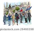 People in a street of Paris 26460398