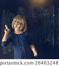 Little Girl Education Blackboard Concept 26463248