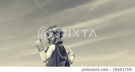 Little Girl Super Hero Concept 26463709