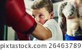 Boy Training Boxing Exercise Movement Concept 26463789
