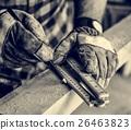 Carpenter Craftman Lumber Timber Woodwork Concept 26463823