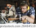 Carpenter Craftman Lumber Timber Woodwork Concept 26464510