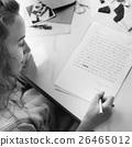 Written Women Female Girl Message Statement Concept 26465012