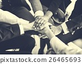 Business Team Stack Hands Support Concept 26465693