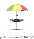 realistic graphic design vector of umbrella beach 26466055