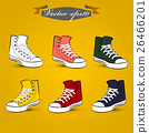 graphic design vector of set of vintage shoes 26466201
