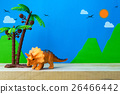 Triceratops toy model on wild models background 26466442