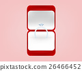 graphic design of wedding ring in red box 26466452