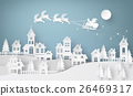 Illustration of Santa Claus on the sky  26469317