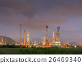 Twilight of oil refinery plant, Cloud black. 26469340