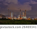 Twilight of oil refinery plant. 26469341