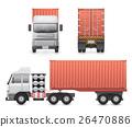 Trailer truck vector 26470886