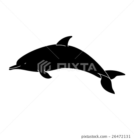 Dolphin Silhouette On A White Background Stock Illustration 26472131 Pixta Silhouette set featuring 4 dolphins in different angles and poses. pixta