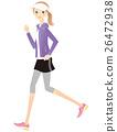 奔跑 矢量 女性 26472938
