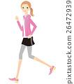 奔跑 矢量 女性 26472939