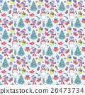 seamless christmas pattern 26473734