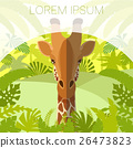 giraffe, animal, vector 26473823