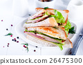 toast sandwich with sausage 26475300