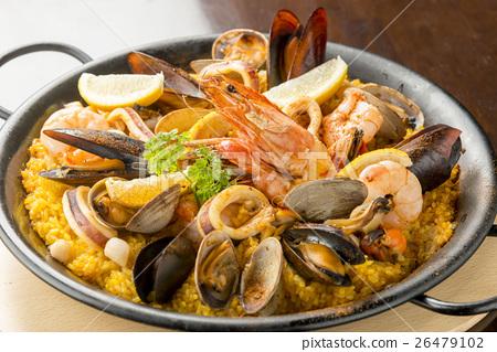 Stock Photo: paella, spanish cooking, spanish cuisine