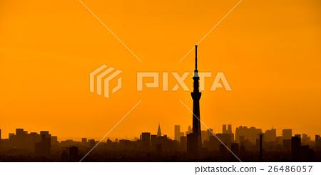 東京大廈小組和天空樹剪影 26486057