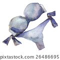 watercolor sketch: a swimsuit on white background 26486695