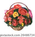 watercolor sketch of flowers in the basket 26486734