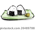 rice ball, hand drawn, japanese food 26489788