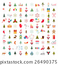 Christmas, New Year holidays icon big set 26490375