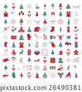 Christmas, New Year holidays icon big set 26490381