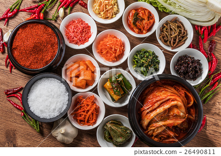 Kimchi And Korean Ingredients Delicious General Stock Photo 26490811 Pixta