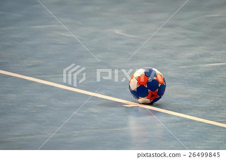 Handball ball on field 26499845