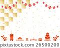 金葉 紙燈籠 背景 26500200