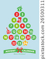 advent, calendar, christmas 26500311