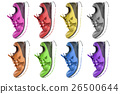 colorful running and fashion sneaker shoes 26500644