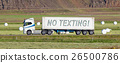 Truck driving through a rural area - No texting 26500786