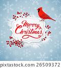 Christmas, bird, background 26509372